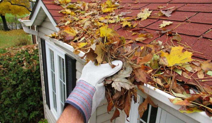 Clogged gutters can mean serious trouble