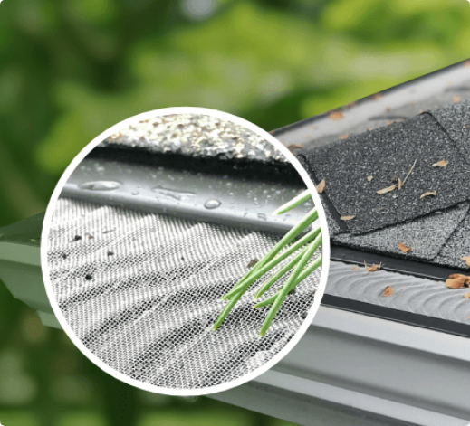Gutter Guards keeping debris out, allowing water to flow